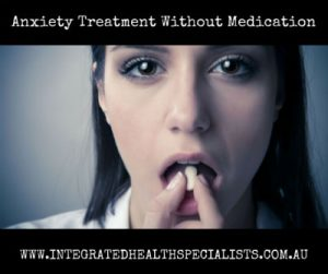 Gold Coast anxiety treatment without medication - woman taking a pill