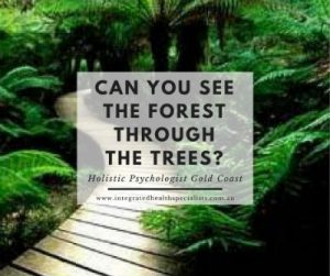 Holistic Psychologist Gold Coast - can you see the forest through the trees?