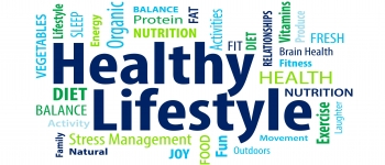 healthy lifestle words, holistic approach