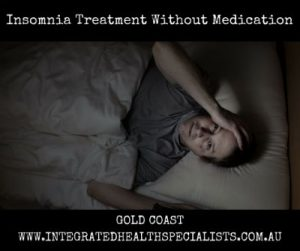 Insomnia Treatment Gold Coast - man in bed can't sleep