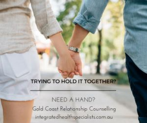 Relationship Counselling Gold Coast - man and woman holding hands